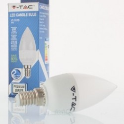 Bombilla LED V-TAC 6w E14 470Lm Luz Cálida 3000ºK Vela Regulable 200º Apertura Luz