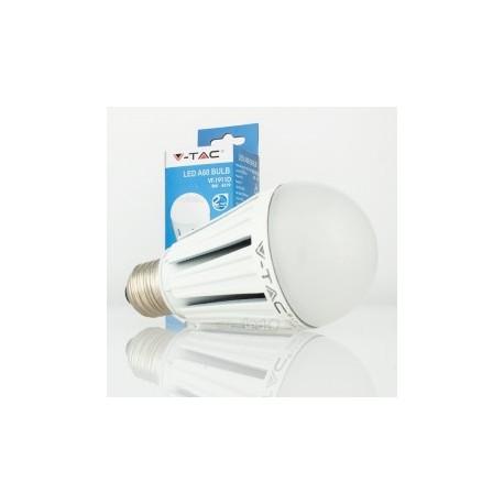 Bombilla LED V-TAC 12w E27 Regulable 1055Lm Luz Cálida 3000ºK Esférica A60 120º Apertura Chip Samsung