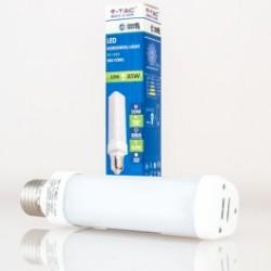 Bombilla LED V-TAC 10w PL E27 850Lm Luz Fría 6000ºK 120º Apertura Luz, con casquillo rotatorio 270º