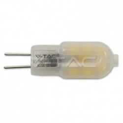 Bombilla LED V-TAC 1.5 W G4 100Lm Luz Cálida 3000ºK 12V 300º Apertura Luz
