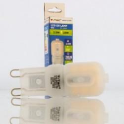 Bombilla LED V-TAC 2.5 W G9 200Lm Luz Natural 4500ºK  300º Apertura Luz