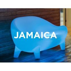 Sofá Luminoso JAMAICA RGB mobiliario led con batería y carga solar para uso exterior e interior. Resistencia a UV.