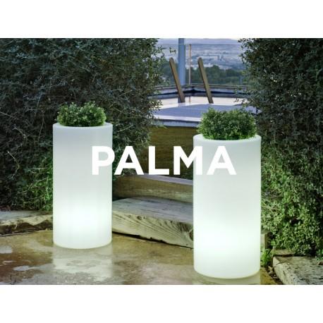 Macetero LED Luminoso PALMA 70 con cable de neopreno 2m. y terminal Shucko para uso exterior e interior. Protección IP65