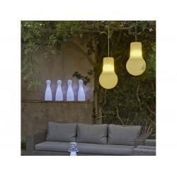 Lámpara Colgante LED exterior BALBY HANG LIGHT en polietilieno doble de alta resistencia.