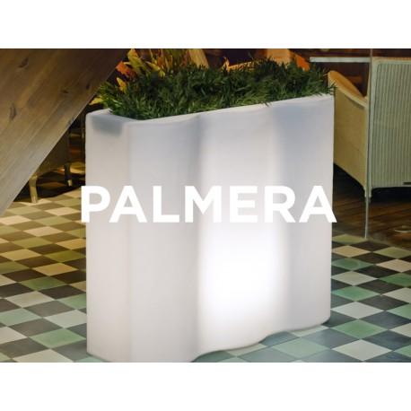 Macetero LED Luminoso PALMERA con cable de neopreno 2m. y terminal Shucko para uso exterior e interior. Protección IP65
