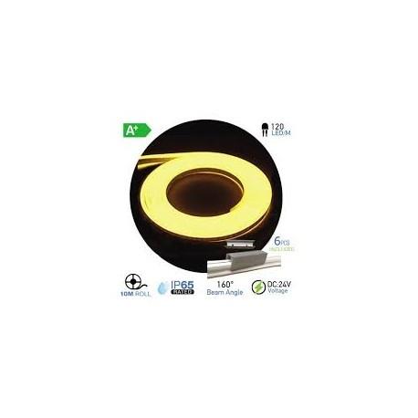 NEON Flex LED 24V ROJO PURO (10 metros)  10W/m