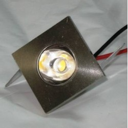 Downlight Led Mini 1W Luz Fría 6000ºK Foco Empotrable Cuadrado Decoración