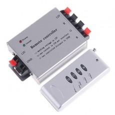 Controlador Tira Led RGB Dimmer PWM 12A 144W Control Remoto Infrarrojos IR Mando a distancia 4 Botones radiofrecuencia