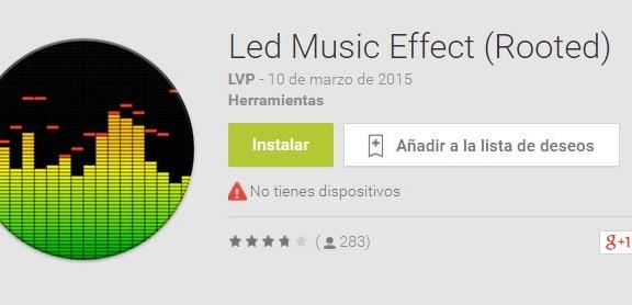 aplicacion led music effect