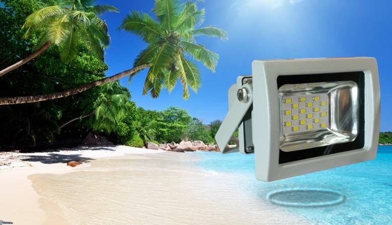 Foco LED Proyector 10W Optimizado 120º Exterior IP65 Luz Natural Día 4500ºK GRIS por sólo 8.22€