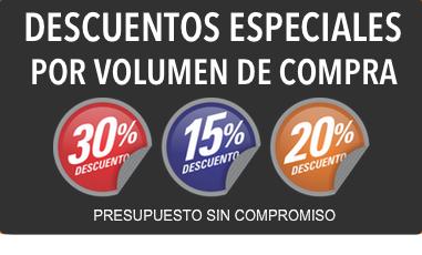 Descuentos especiales por volumen de compra